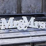 Crazy Genie MR & MRS Wooden Letters Wedding Decoration / Present