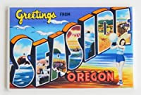 Greetings From Seaside Oregon Fridge Magnet by Blue Crab Magnets