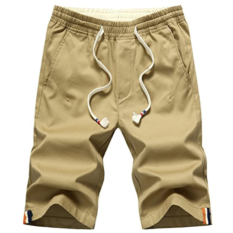 (リオモード)DeLamode 男性の夏のカジュアルショーツ50%の長さのビッグビーチパンツのシン5パーセント