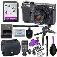 Canon PowerShot g9XマークII Point & ShootデジタルカメラバンドルW/三脚ハンドグリップ、64GB SDメモリ, Case and More (ブラック)