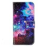 iPhone6s 4.7インチケース 手帳型 宇宙柄 星雲柄 アイフォン6s おしゃれ スタンド ICカード収納 ダイアリーTPU レザー フリップケース (宇宙A) (iPhone6s/6)