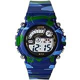 Hiwatch 腕時計 防水 デジタル表示 子供 アラーム LEDライト付き 迷彩柄