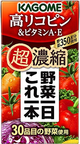 カゴメ 野菜一日これ一本 超濃縮 高リコピン 125ml×48本 (野菜1日これ1本 野菜ジュース) [その他]