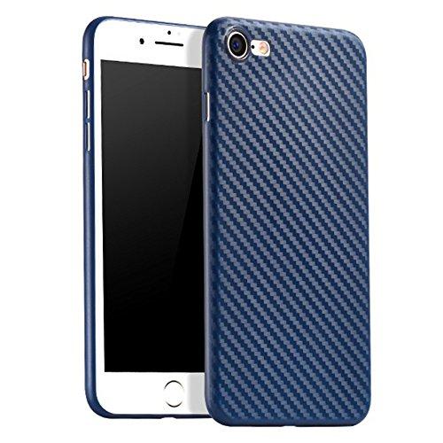 hoco. | 極薄カーボンファイバー仕様プロテクションケース Ultra Thin Carbon Fiber Case for iPhone 7 & iPhone 7 Plus (iPhone 7, ネイビーブルー)