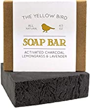 Activated Charcoal Soap Bar - Natural Detox Face Soap & Body Soap for Acne, Blackheads, Eczema, Psoriasis,