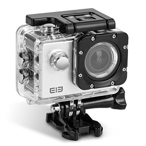 uvistar ELE ウェアラブルカメラ 30メートル防水 170度広角レンズ WIFI搭載 超高画質16MP 4K 1080P (シルバー)