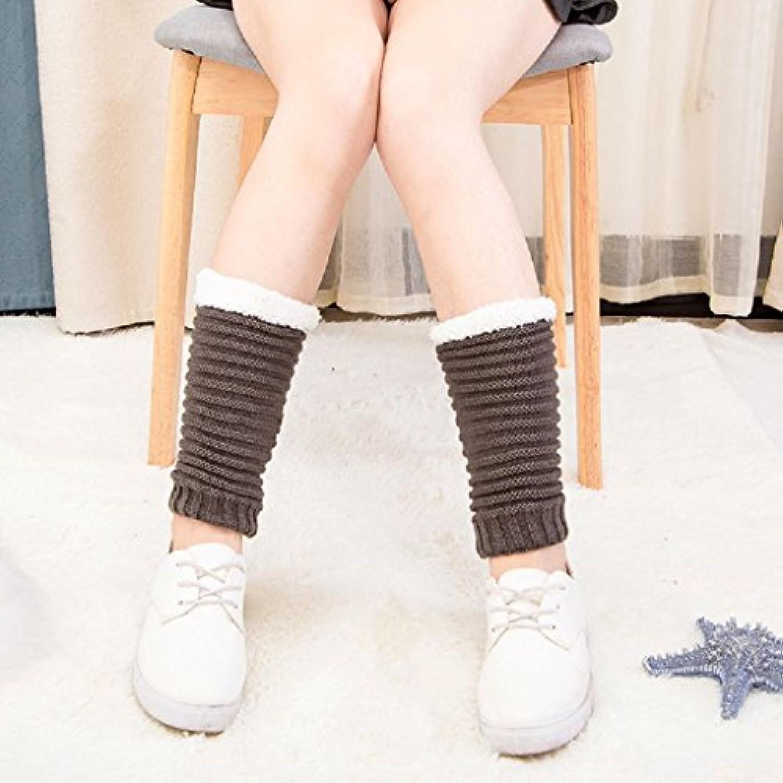 yunchuangレディース冬かぎ針編みニットブート袖口トッパーShort Leg Warmer