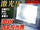 投光器 LED 30W 白色光 23000ルクス 100V 投光機 屋外使用可能 防水 作業灯 アウトドア 倉庫照明 店舗照明 ライトアップ 防災グッズ