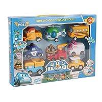 8-in-1ロボット車のおもちゃ非毒性プルバック車車両セットトランスフォーマーロボットかわいい漫画教育玩具子供3 + - 多色-1サイズ