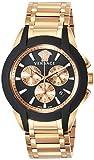 [ヴェルサーチ] 腕時計 キャラクタークロノ ブラック文字盤 VEM800318 メンズ 並行輸入品 ピンクゴールド