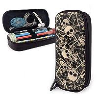 シュガースカルハロウィーン PUレザーペンケース バッグ Pencil Case Bag 収納ポーチ メイク 化粧ポーチ 旅行 便利 学校 仕事用 多用途