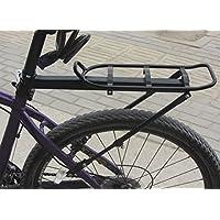 Walant 自転車 荷台 簡単取付け 泥よけの役割機能付き調節可能 後付けリアキャリア ブラック