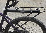 Walant 自転車 荷台 簡単取付け 泥よけの役割機能付き調節可能 後付けリアキャリア ブラック (耐荷70kg)
