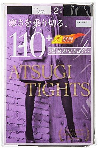 (アツギ)ATSUGI タイツ 110D アツギ タイツ (ATSUGI TIGHTS) 110デニール 〈2足組3セット〉 FP11102P 480 ブラック M~L