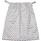 Teamoy Reusable Pail Liner for Cloth Diaper/Dirty Diapers Wet Bag, Gray Chevron