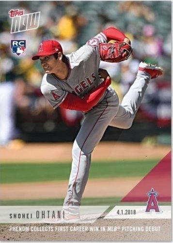 TOPPS NOW エンゼルス 大谷翔平 MLBデビュー戦 初登板初勝利カード 英語版