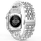 アップルウォッチ バンドApple watch band ステンレス留め金製 38/42MM 調整器付属 (42mm, シルバー)