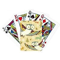 ラブリー鳥フクロウフローラルパターンPoker PlayingカードTabletopボードゲームギフト