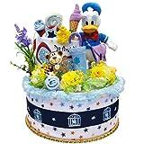出産祝い オムツケーキ ディズニー ドナルドダック 誕生プレゼント 内祝い おむつケーキ パンパース 42枚 (S)