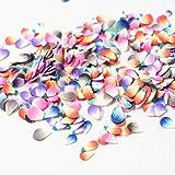 紗や工房 アクセサリーパーツ ハンドメイド レジン パーツ 封入 素材 ポリマークレイ チップ 花びら 約3-5mm カラフル 約3g 小花 ネイル おはな サクラ デコ