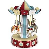 Vintage Circus 3D Carousel Centrepiece