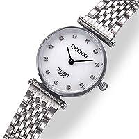 ZHANGZZ 美しい時計 レトロクォーツ腕時計防水カップル腕時計072C超薄型スチールベルト時計 (Color : 2)