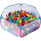知育玩具 折り畳み式 コンパクト 収納バッグ付き 屋内遊具 室内室外 ブルー夏