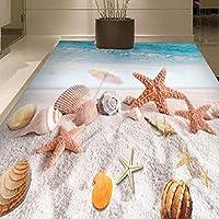 山笑の美 壁画 フロアステッカー 壁紙 3d 绘画 写真 タイル研究室ヒトデビーチベッドルームサッカービニールing写真壁-350X250CM