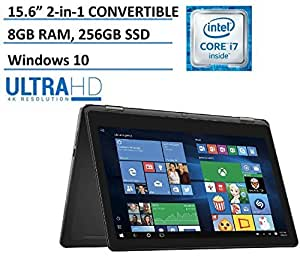 Dell Inspiron 15 7000 7568 15.6-Inch Convertible 2-in-1 Touchscreen Laptop with Backlit Keyboard (Intel 6th Gen i7-6500U, 256GB SSD, 8GB DDR3, Windows 10)(Certified Refurbished)? [並行輸入品]
