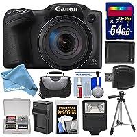 Canon PowerShot sx420isデジタルカメラ(ブラック)とWi - Fi 64GBカード+ケース+フラッシュ+バッテリー+充電器+三脚+ digitalandmoreデラックスアクセサリーキットfor sx420