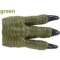 2個のグリーンの恐竜の爪の手袋