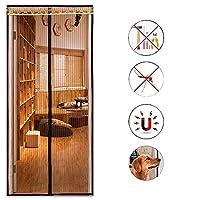 刺繍 磁気スクリーンドア,マジックテープミュートアンチ-蚊の夏 ドアフライスクリーン ハンズフリー磁気クローズスクリーンドア-a 95x210cm(37x83inch)