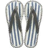 現代百貨 ルームシューズ Blue 25-27cm コットン サンダル TILA 4932-06