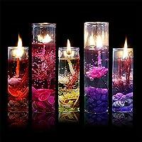 mosichi RomanticガラスボトルオーシャンテーマSmokeless Jellyワックスジェルキャンドルウェディング誕生日パーティー装飾 One Size SNVSAVVBDBEJ374309455SNVSAVVB