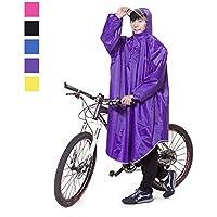 Aosovs レインコート 自転車 バイク レインポンチョ ロング ポンチョ レディース メンズ 男女兼用 通勤通学 フリーサイズ 完全防水 高品質 四季通勤 収納袋付き 5カラー