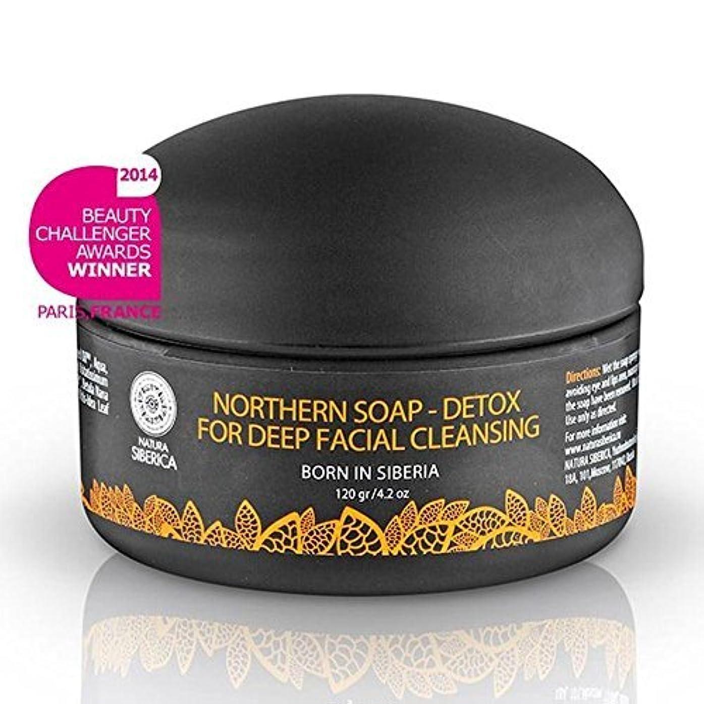 アンデス山脈より自由Northern Detoxifying Soap with Charcoal for a Deep Purifying Effect 120g (Natura Siberica) by Natura Siberica...
