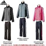 adidas(アディダス) AE 裏起毛ウインド 上下セット WD487/WD489 (BLK×SGRY(F45542/F45546), L)