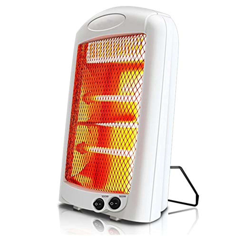 赤外線 電気 石英 暖房器具,音静か 放射 先端の保護 2 段階切替 600 w 省エネ カーボンヒーター ストーブ の ホーム オフィス-ホワイト