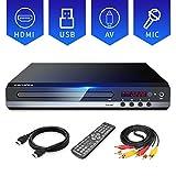 Sandoo DVDプレーヤー DVD/CD再生専用モデル HDMI端子搭載 CPRM対応、録画した番組や地上デジタル放送を再生する、USB、Mic対応、AV / HDMIケーブルが付属し、テレビに接続できます、リモコン、日本語説明書付き 【メーカー18ヶ月保証】MP2206