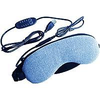 【RYNEXT】 USB ホットアイマスク 繰り返し使える (4段階タイマー&温度調節機能) カバー丸洗い可能 大容量専用ポーチ&日本語説明書付き(合成皮革/無香タイプ)