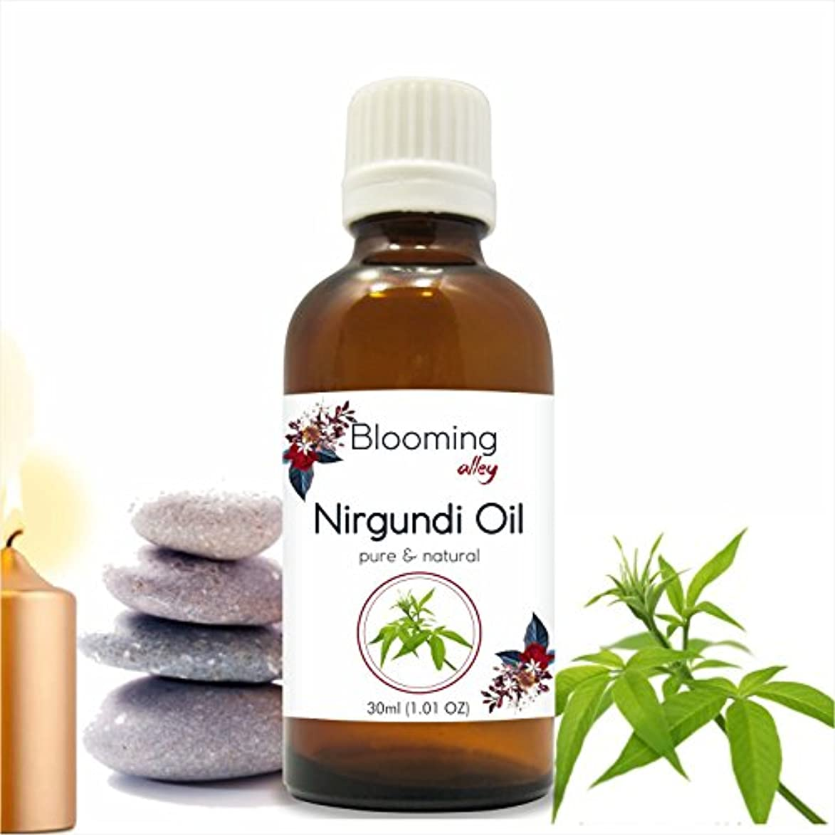 不規則なディレクトリ療法Nirgundi Oil (Vitex Negundo) Essential Oil 30 ml or 1.0 Fl Oz by Blooming Alley