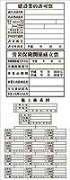 許可板くん(建設業の許可票、労災保険関係成立票、施工体系図) 550x 1400(鉄枠付)雛形 無反射