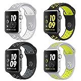 ナイキ 腕時計 Otmake Apple Watch NikeバンドApple Watch Series1 2ソフトシリコンバンド スポーツ交換ベルト( Nike 4Pack-42mm)