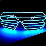 LED サングラス メガネ パーティー イベント クラブ 大人気に 選べる10色 サウンド アクティブ タイプ (水色)