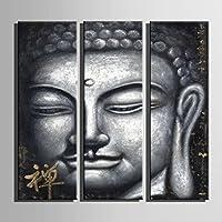 E-HOME飾り仏 の装飾絵画家の装飾上のキャンバス現代壁アートキャンバスプリントポスターキ インテリア (24*70cm*3pcs 完成品(木枠を含む))