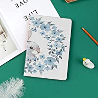 iPad Pro 11 ケース 2018 マグネットス吸着式 オートスリープ機能 スリム 軽量 シルク手触り 高級感 iPad Pro 11インチ専用 スマートカバーフローラルリースイラストのウサギの肖像画カントリースタイルの装飾的な装飾