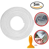 車ドアモール SEAMETAL J型モール ドアエッジプロテクター 3M両面テープ付き 騒音低減 キズ防止 カー用品 5m/10m (5m, クリア)