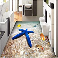 Xbwy Pvc着用滑り止め防水増粘自己接着3Dフローリング壁画壁紙バスルームキッチンリビングルーム-350X250Cm