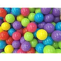 Adventures atホームパック100の非毒性Play Balls With再利用可能なメッシュバッグ – 10明るい色 – BPA free-フタル酸Free – Crush Proof Balls