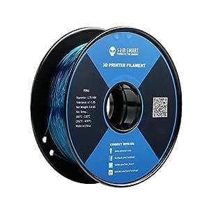 サインスマート、ティール 、フレキシブルTPU 3Dフィラメント、1.75 mm、0.8 kg、寸法精度±0.05 mm SainSmart Teal Flexible TPU 3D Printing Filament